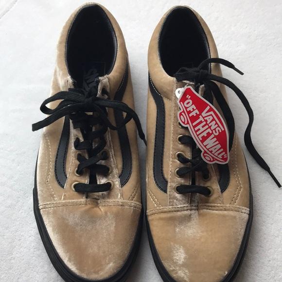Vans Old Skool Velvet Tan Black men s shoes 10.5 bfcb3e7de